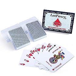 top 10 waterproof playing cards LotFancy playing cards, 100% plastic, waterproof – two card games with plastic sleeves, poker …