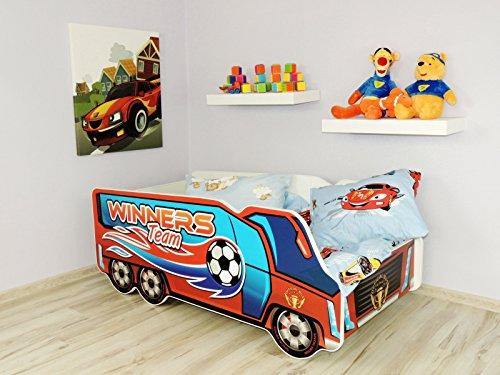 Kinderbett für Kleinkinder, inkl. Matratze, Auto, LKW (offizieller Bus)