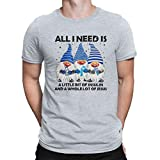 ALPHADAS T-shirt tendance pour homme – Gnomes All I Need is A Little Bit of Insulin and A Whole Lot of Jésus Diabète - Noir - 4XL