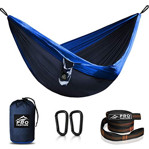 Double Camping Hammocks (Full) - Hammock with Free Premium Straps & Carabiners - Lightweight and Compact Parachute Nylon. Backpacker Approved and Ready for Adventure!