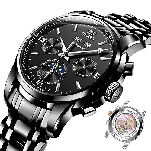 Las mujeres para hombre relojes diamante de lujo analógico cuarzo fácil lectura relojes oro acero inoxidable impermeable día fecha relojes regalo