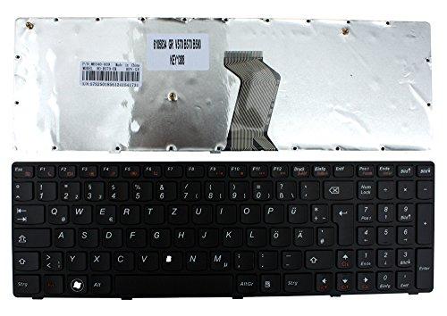 Keyboards4Laptops Lenovo Essential B570e Marco Negro Negro Layout Alemán Teclado de Repuesto para Ordenador portátil