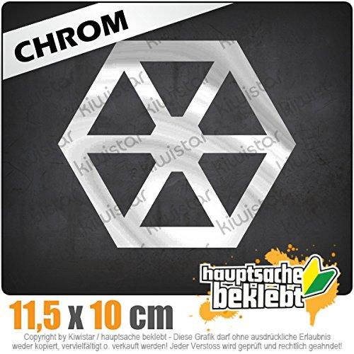 Kiwistar Separatisten 12 x 10 cm In 15 Farben - Neon + Chrom! JDM Sticker Aufkleber