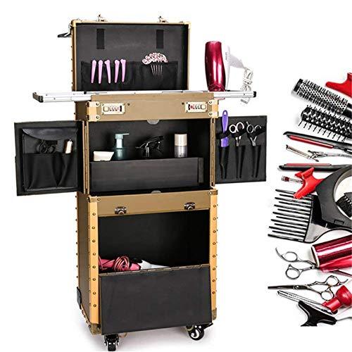 AOO Caja de Maquillaje laminando, Cajas de cosméticos de Gran Capacidad Trolley...