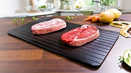 Miracle Tray- Food Defrosting Tray-As Seen on TV Meat Thawing Tray-The Safest Way to Defrost Steak &Frozen Food -Quickly Without Electricity,Hot Water or Any Other Tool