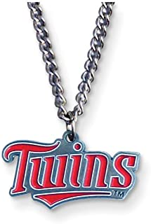 Gifts Licensed Gifts MLB Siskiyou Buckle Minnesota Twins 20 inch Chain Necklace