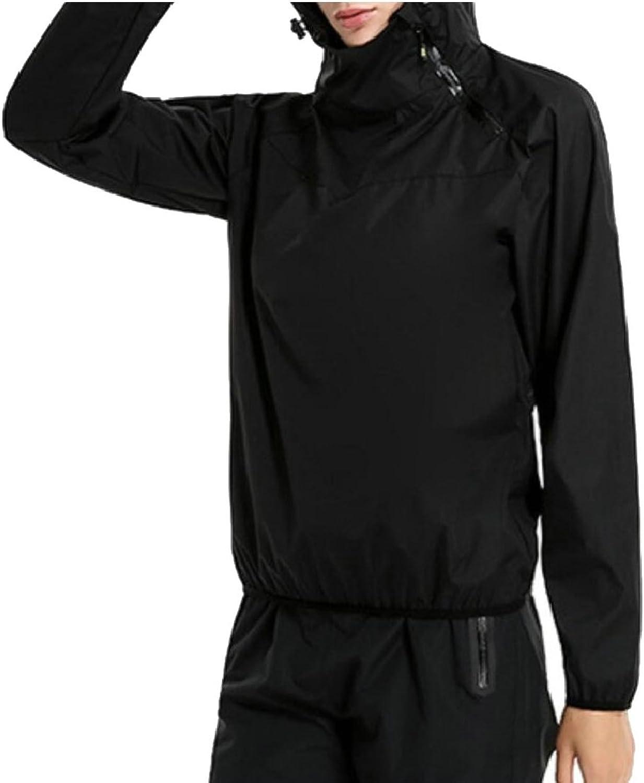LEISHOP Women's Hooded colorblock Halt Zip Rain Jacket Waterproof Raincoat