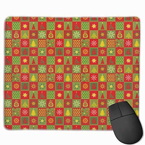 Weihnachtsbäume bilden rutschfeste einzigartige Designs Gaming-Mauspad Schwarzes Stoff-Rechteck Mousepad Art Naturkautschuk-Mausmatte mit genähten Kanten