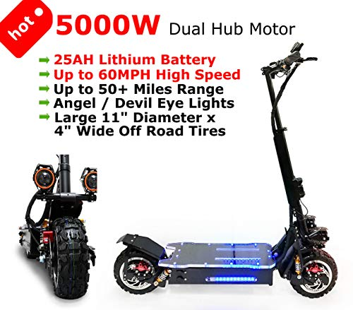 For Sale! WesternPacific New 5000W Off Road 60V Electric Kick Scooter Ultra High Speed 25AH Lithium ...