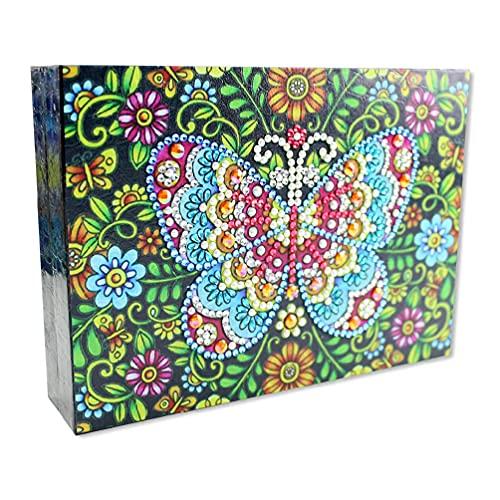 Joyero de embalaje de escritorio organizador de almacenamiento de regalo anillos de viaje portátil collar brazo para mujeres niñas PU cuero vitrina DIY 5D pintura diamante hogar pendientes joyas cajas