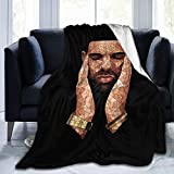 Ultra-Soft Micro Fleece Rapper-Drake-Piture Blanket Lightweight Cozy Flannel Throw Blanket for Children/Adults