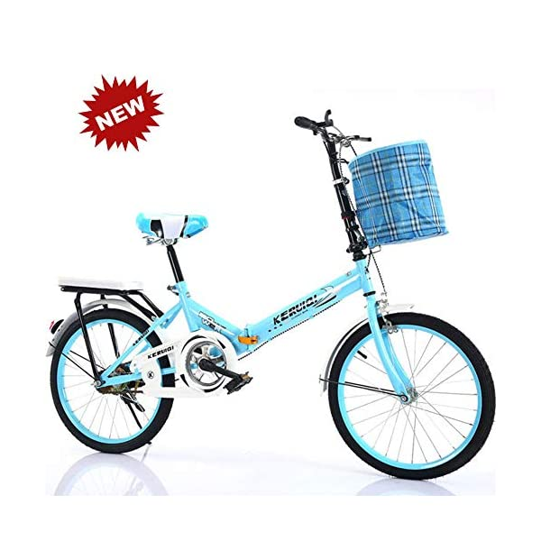 Folding Bikes QINYUP 20 Inch Folding Bicycle Women'S Light Work Adult Adult Ultra Light Variable Speed Portable Adult Small Student Male Bicycle Folding Carrier Bicycle Bike [tag]