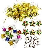 Party Hub 80 Pcs Christmas Tree Decoration Ornaments Set of 80 pcs