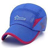 Sombrilla de Verano Transpirable Gorra de béisbol Azul Cielo Ajustable
