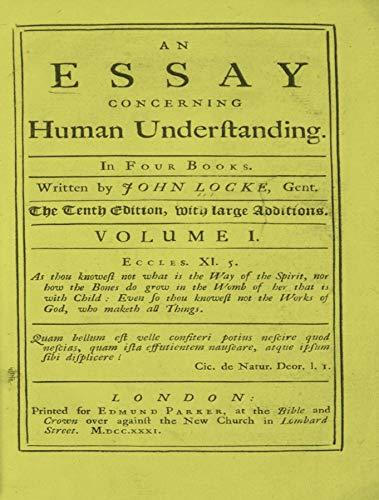 From an essay concerning human understanding john locke of mice and men discrimination essay