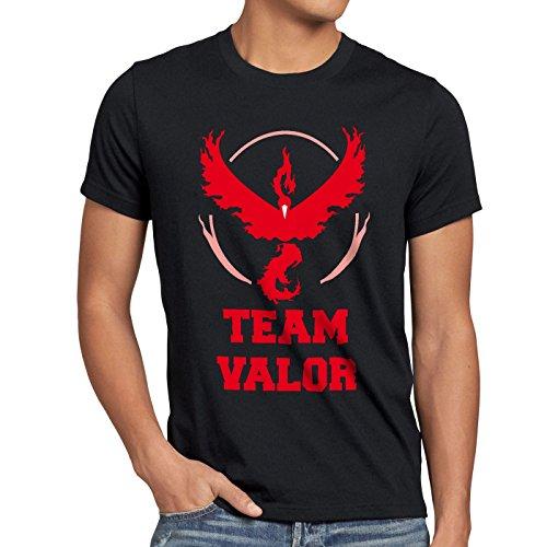 CottonCloud Team Valor Herren T-Shirt Rot Red Wagemut, Größe:XL, Farbe:Schwarz
