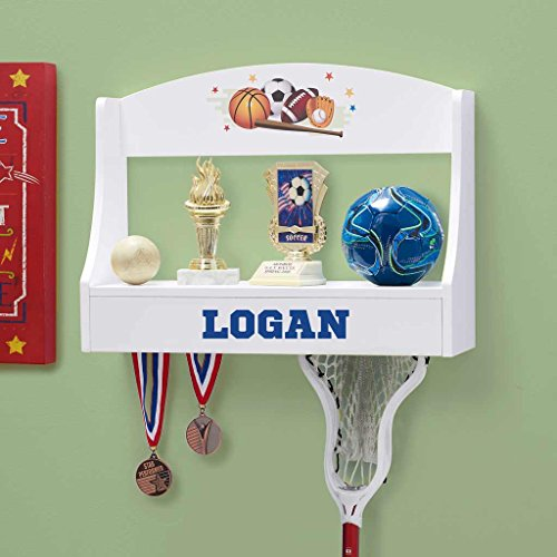 DIBSIES Personalization Station Personalized Trophy Shelf and Medal Holder (Multi Sports)