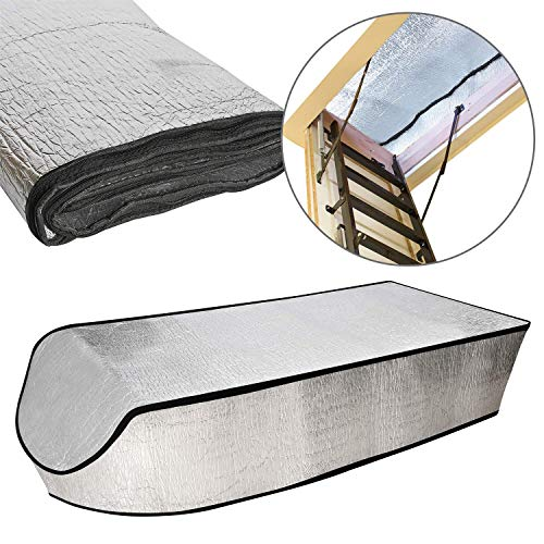 """Attic Stairs Insulation Cover, Ladder Covers, 54"""" x 25"""" x 11"""", Insulator, Door Seal, Thermal, Covering, Hatch Tent, Hardware, for Ladders Pull Down, Attics Access, House, Entry, Entrance, Stairway"""