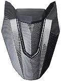 HEWE 2020 Motorbike Asiento Trasero Cubierta de Cola Sección de carenado Cowl para CB650R CBR650R 2019 2020 Accesorios de Asiento de la Motocicleta (Color: Negro Brillante) (Color : Carbon)