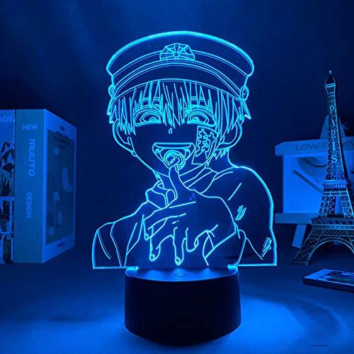 16 colores noche anime Wc en Hanako KUN LED noche luz 3D Control remoto lámpara de mesa envío 16 color con control remoto