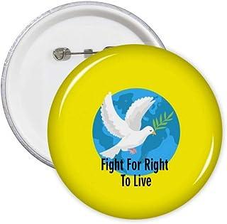 Independent American Right Freedom Life Pins Badge Badge Badge Emblème Accessoire Décoration 5pcs