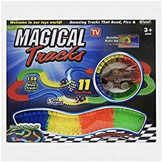 Magical tracks 150 pcs of glow in the dark tracks With LED lights