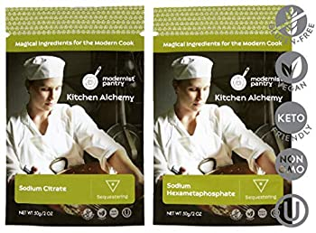 Image: Food Grade Sodium Hexametaphosphate (Molecular Gastronomy) | Non-GMO | Vegan | OU Kosher Certified | 100% Food Grade | beware cheap industrial grade products not meant for human consumption