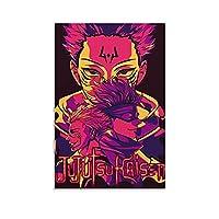 呪術廻戦アニメウォールアートプリントポスターリビングルーム壁画寝室装飾絵画キャンバスプリント写真12×18インチ(30×45cm)