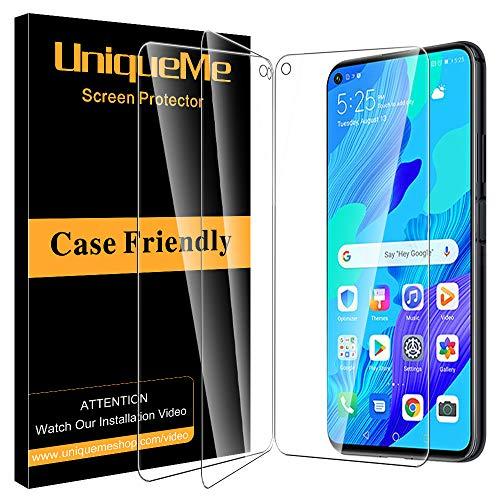 [3Pack] UniqueMe Schutzfolie für Huawei Nova 5T Panzerglas, [Anti- Kratzer][9H Festigkeit] panzerglasfolie displayfolie schutzglas Gehärtetes Glas displayschutz folie
