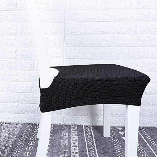ASHATA Housses de siège de Chaise de Couverture de Chaise de Jacquard, Housse de siège Anti-fouling imperméable à l'eau de Coussin de siège, pour Le Restaurant de Cuisine(Black)