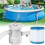 Sandfilterpumpe für Pool mit Filterelement, FNKDOR Pool Filterpumpen aus Leichter Plastik für 378-1324L(100-350gal)/hr Gartenpool 220V/20W