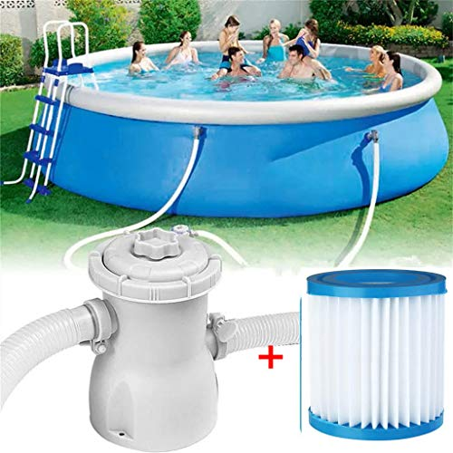 HSKB Poolpumpe Filterpumpe Vorfilter für Schwimmbecken Zubehör für Sandfilteranlage Schwimmbadpumpe Mit Filtereinsatz zur Optimalen Reinigung von Wasser im Schwimmbecken