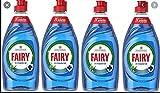 Fairy - Detergente liquido antibatterico per piatti, con fragranza di eucalipto, confezione da 4 flaconi, capacità: 383ml