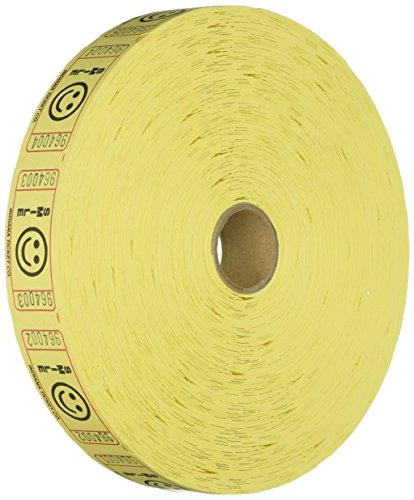 Indiana Ticket Company Smile Ticket Roll, Yellow