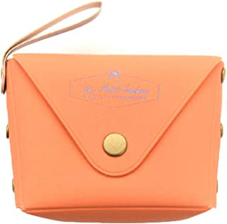 Elenxs Lady's Small Zip PU Coin Key Holder Purse Small Colorful Change Bag for Women