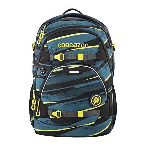 coocazoo Schulrucksack ScaleRale Wild Stripe blau-gelb-schwarz, ergonomischer Tornister, höhenverstellbar mit Brustgurt und Hüftgurt für Jungen ab der 5. Klasse, 30 Liter