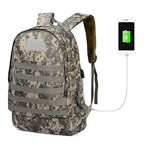Ys-s Shop-Anpassung Oxford Tactical Tasche Rucksack mit USB-Ladeport Große Kapazität PUBG Außerhalb Wanderer Klettertasche Angeltasche