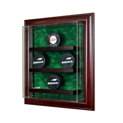 Perfect Cases Glass 9 Hockey Puck Cabinet Style Display Case