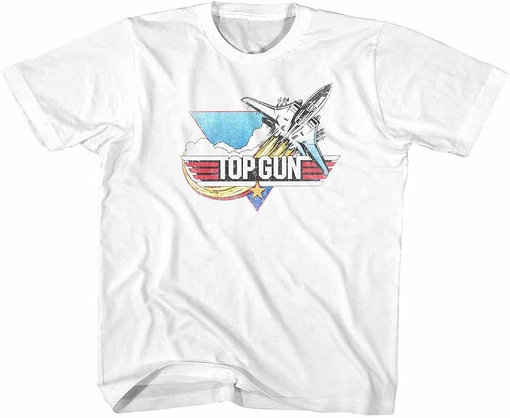 Top Gun Fade White Big Boys Youth T-Shirt Tee