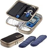 Estuches de viaje para enfriar la insulina - (Paquete de 2) Bolsas portátiles aisladas para diabéticos con 4 bolsas de hielo de gel reutilizables Bolsa