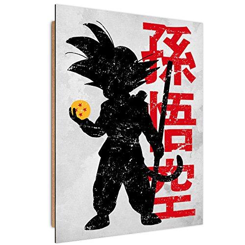 Feeby Dessin par DDJVIGO Image imprimée - 70x100 cm - Noir Rouge