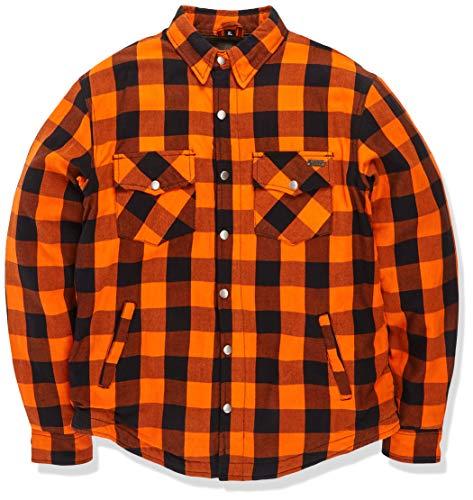 BOSmoto Kevlar Jacke, Lumberjacke, motorrad hemd XL, Orange