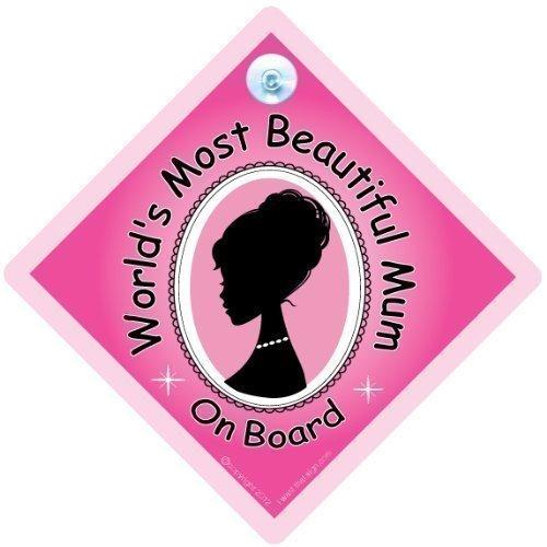 Les plus belles du monde Mum on Board Sign, Mum voiture Panneau, superbe style momie, panneau bébé à bord, bébé à bord, maternité, fête des mères, cadeau saint-valentin cadeau, Maternité, Grossesse