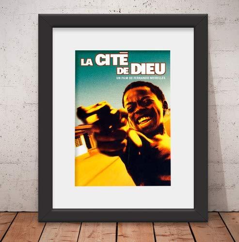 Quadro Decorativo Filme Cidade De Deus 46x56cm Paspatur & Vidro Q28