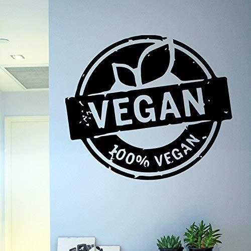 Art Vegan Power Vinyl Muursticker Decals Muurschildering Ontwerp Decor Groente Natuur Flora Voedsel Gezondheid Leven Verwijderbare Decal 64 * 56cm