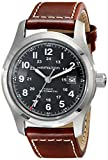 Hamilton Men's H70555533 Khaki Field Stainless Steel Automatic Watch with Brown Leather Band
