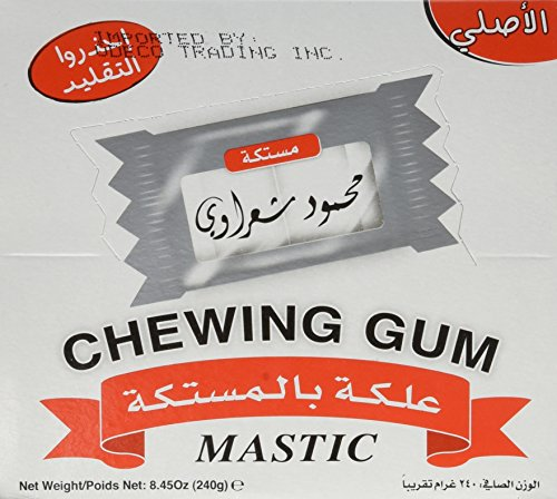 Sharawi Mastic Chewing Gum, 2-piece Dragée Gum, 100 Pack