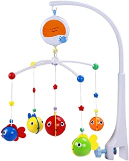SAPU Baby Musical Crib Mobile, Infant Bed Decoration Toy Hanging Rotating Bell with 14 Melodies Dual Purpose ,Baby Mobile ...