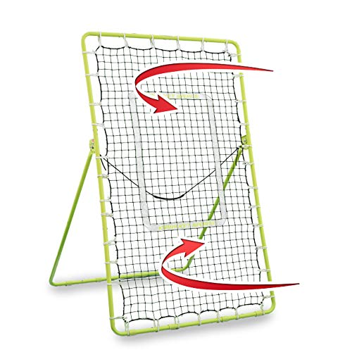 Rukket Tennis Practice Rebounder Net | Rebound Wall for Tennis & Racquet Sports Ball | Portable Backboard for Indoor & Outdoor Training