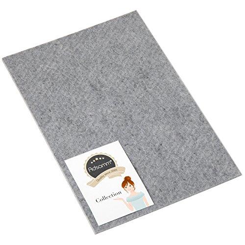 Adsamm   Filzgleiter   200x300 mm   Grau   rechteckig   3.5 mm starke selbstklebende Filz-Möbelgleiter in Top-Qualität